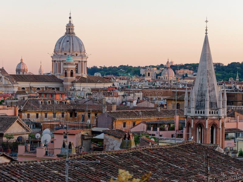 Download Panoramy Rzym San Carlo Al Corso Kopuły Dach Zdjęcie Stock - Obraz złożonej z krajobraz, katedra: 106909414