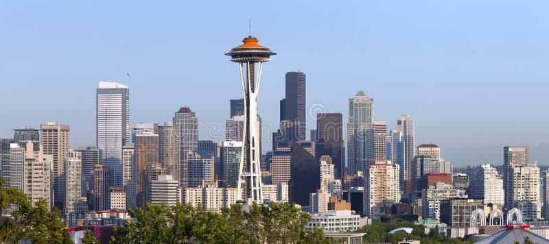panoramy Seattle linia horyzontu zdjęcie royalty free