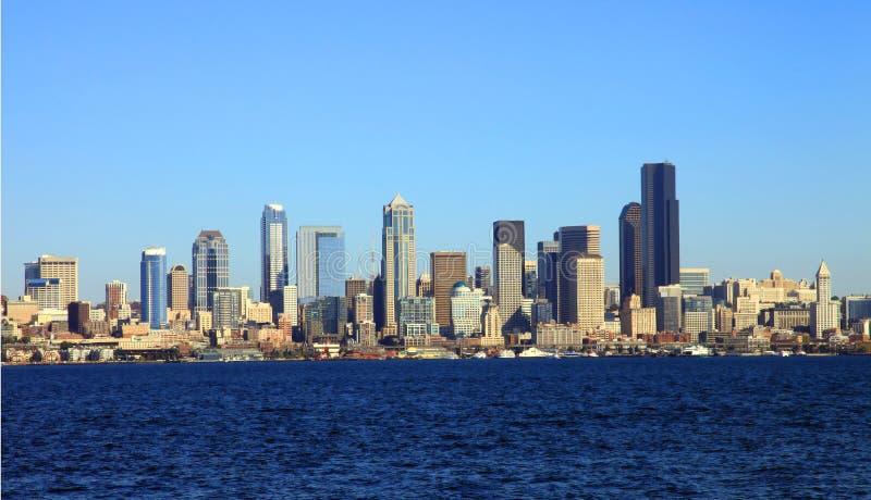 panoramy Seattle linia horyzontu stan Washington obraz stock