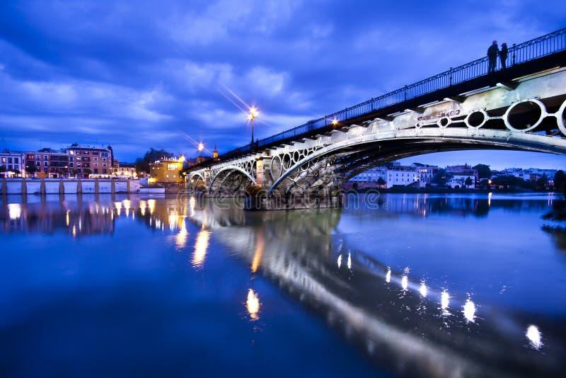 panoramy sevillie nadrzeczny romantyczny zdjęcie stock