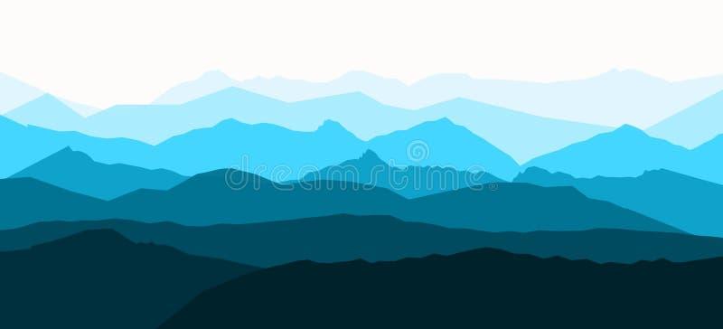 Panoramy wektorowa ilustracja halne granie zdjęcie stock