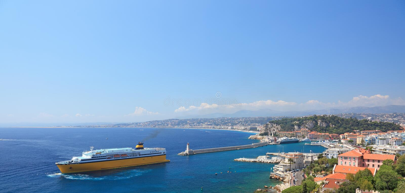 Panorana de la ciudad de Niza. fotos de archivo