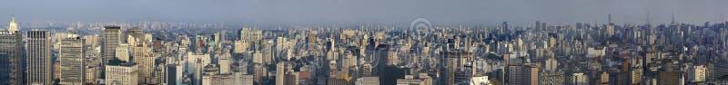 Panoranic-Ansicht von São Paulo, Brasilien lizenzfreie stockfotos