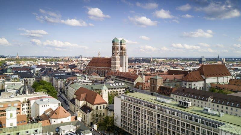 Panorma aérien de ville de Munich photo stock