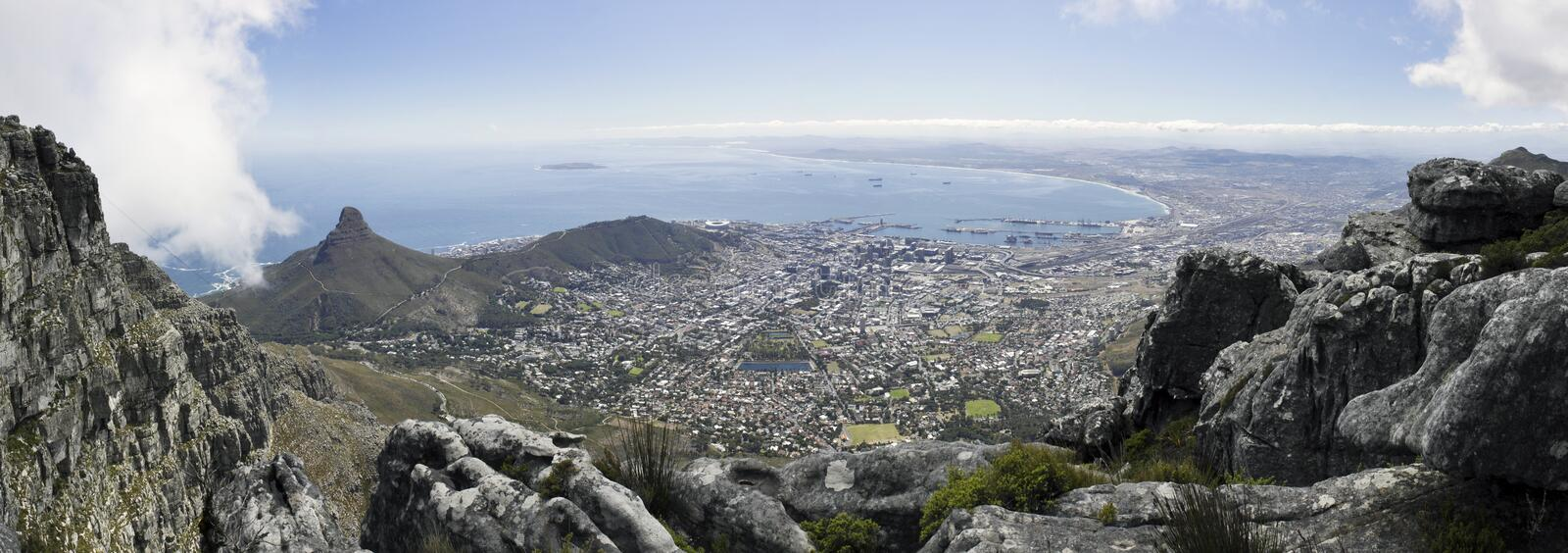 Download Panorma of Cape Town stock image. Image of south, boulder - 13728717