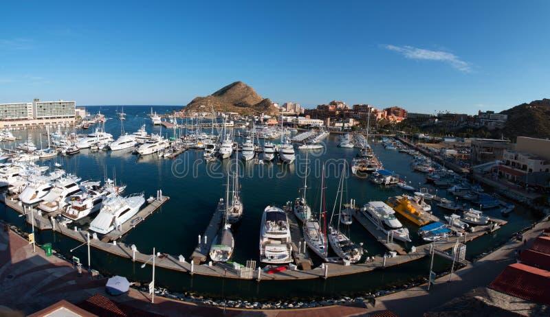 Panorma marina przy Cabo San Lucas Baj Meksyk fotografia stock