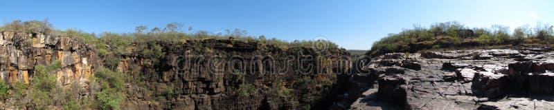 Panorma - Mitchell nedgångar, kimberley, västra Australien arkivfoton