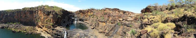 Panorma - Mitchell nedgångar, kimberley, västra Australien fotografering för bildbyråer
