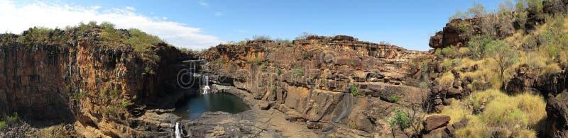 Panorma - Mitchell nedgångar, kimberley, västra Australien royaltyfri bild