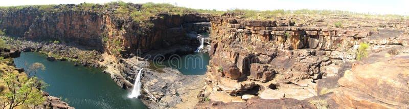 Panorma - Mitchell nedgångar, kimberley, västra Australien royaltyfri foto