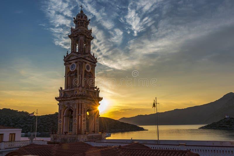 Panormitis Symi Grekland royaltyfria foton