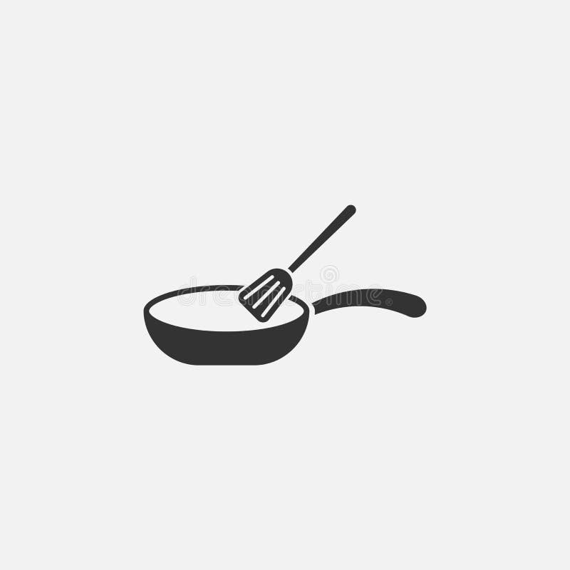 Panpictogram, kok, keukengerei, voedsel stock illustratie