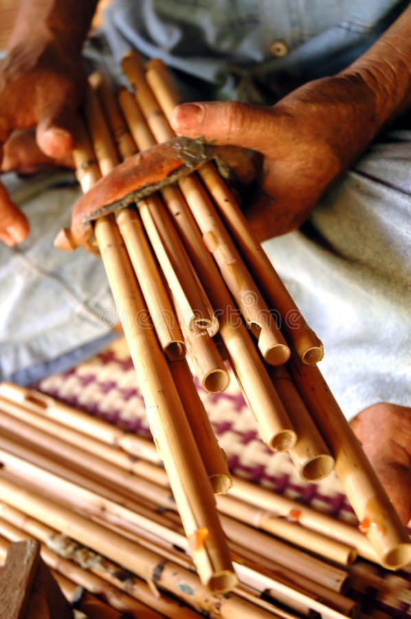 Download Panpipe stock photo. Image of band, bamboo, blow, folklore - 15758484