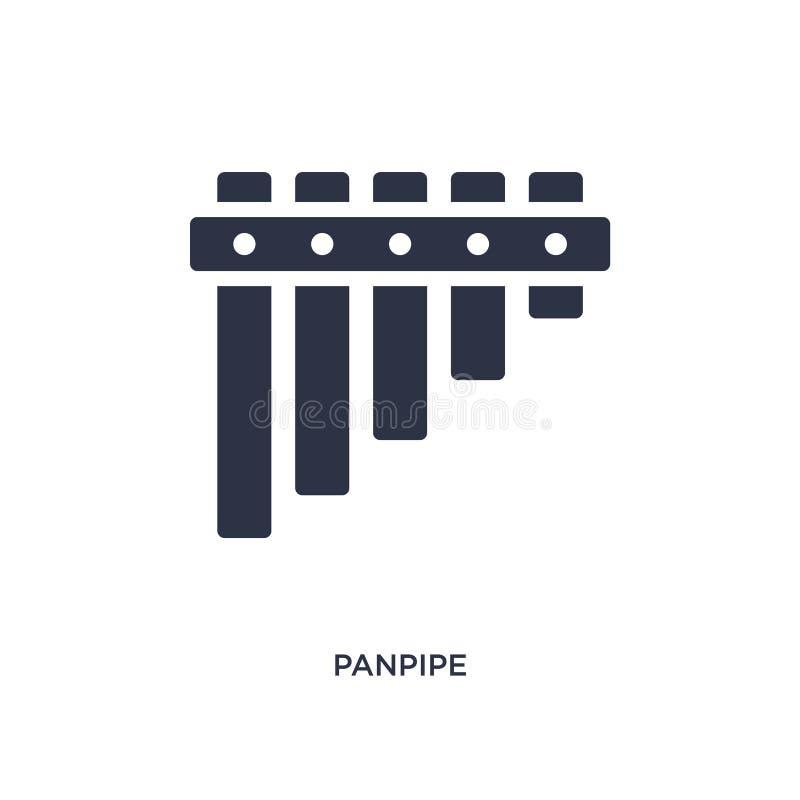 Panpipeikone auf weißem Hintergrund Einfache Elementillustration vom Musikkonzept vektor abbildung