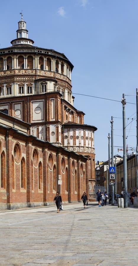 Panprama della chiesa e del delle domenicano Graz di Santa Maria del convento fotografie stock