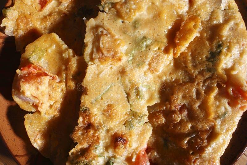 A panqueca baseada farinha do prato do grama chamou Chilro imagens de stock