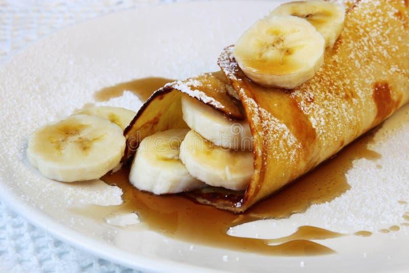 Panqueca da banana imagens de stock royalty free