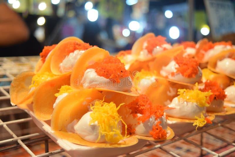 Panqueca friável tailandesa fotos de stock royalty free