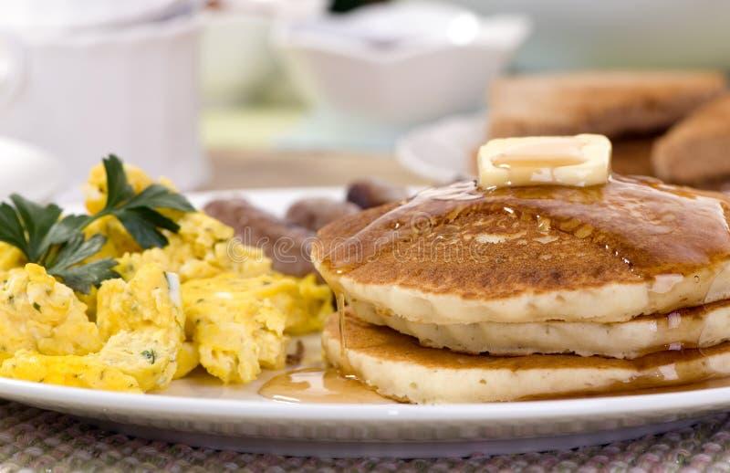 Panquecas do pequeno almoço fotos de stock