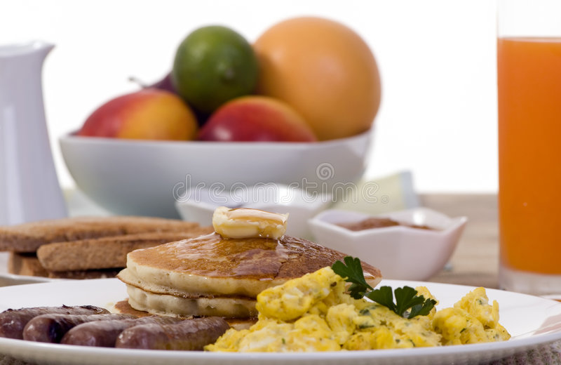 Panquecas do pequeno almoço fotos de stock royalty free