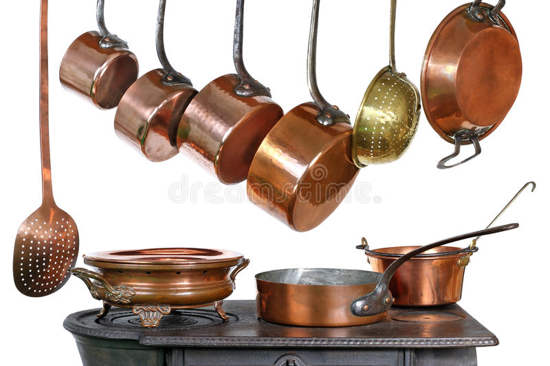 Download Pans and stove stock image. Image of isolated, colander - 22003701