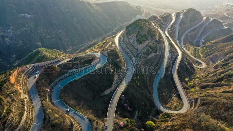 Panshan autostrada w Chiny zdjęcie royalty free