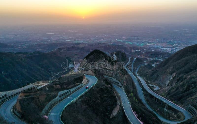 Panshan autostrada w Chiny fotografia stock