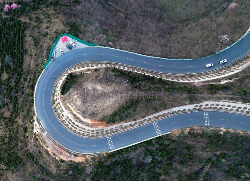 Panshan autostrada w Chiny zdjęcia stock