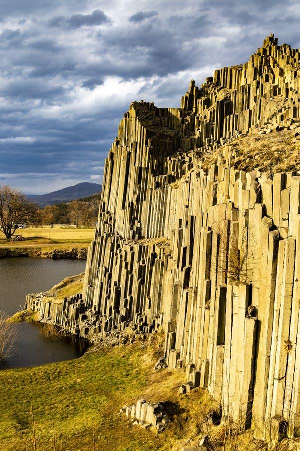 Panska skala, Kamenicky Senov, Tjeckien royaltyfri foto