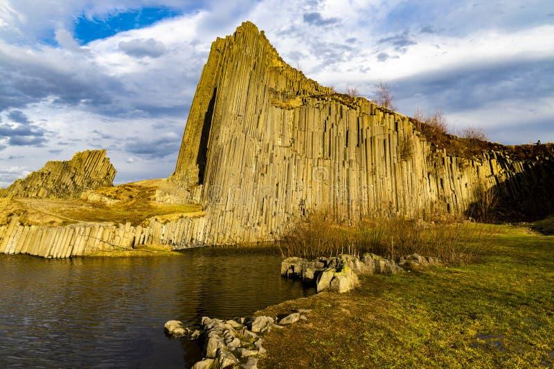 Panska skala, Kamenicky Senov, Tjeckien arkivbilder