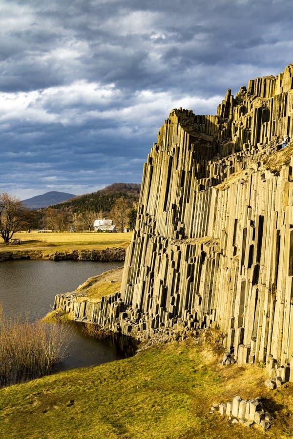 Panska skala, Kamenicky Senov, Tjeckien fotografering för bildbyråer