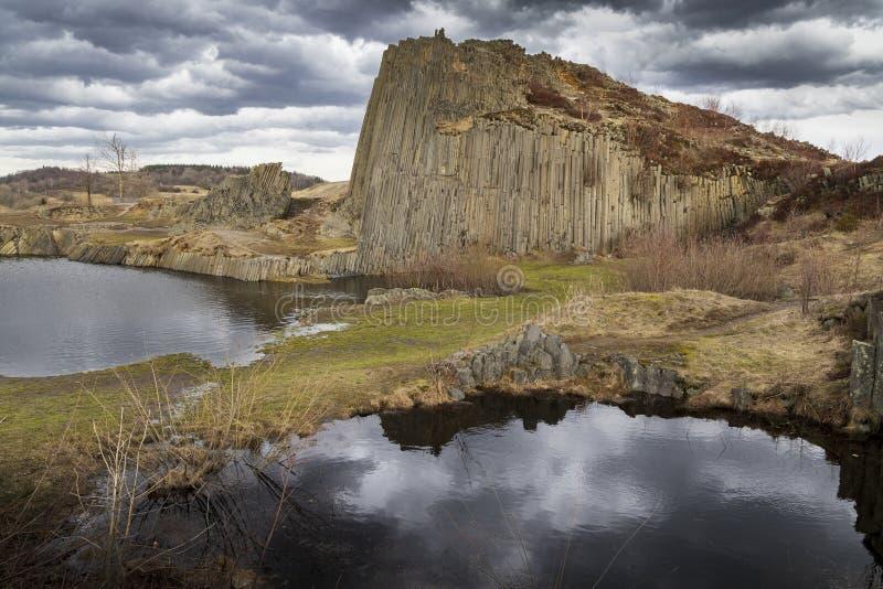 Panska-skala, Kamenicky Senov, Tschechische Republik lizenzfreies stockfoto