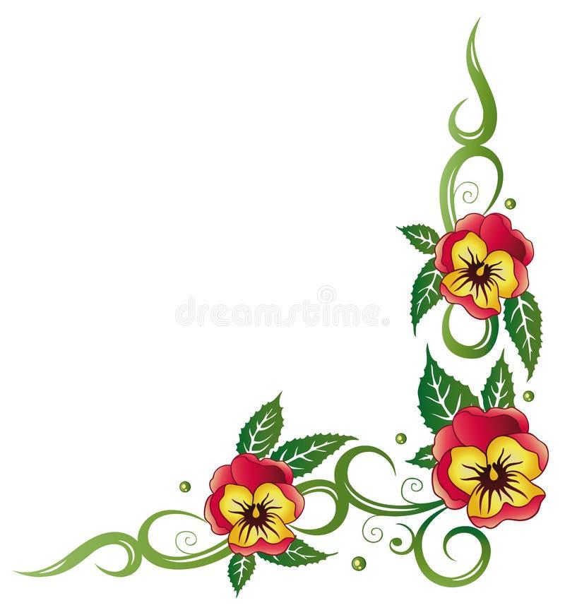 Pansy, kwiaty ilustracja wektor
