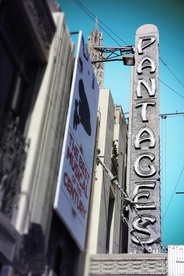 Pantages剧院,好莱坞 图库摄影