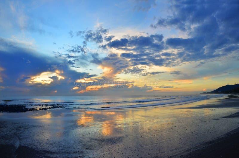 Pantai Batu Hitam. Twillight shot at pantai batu hitam, Kuantan, Malaysia royalty free stock photos