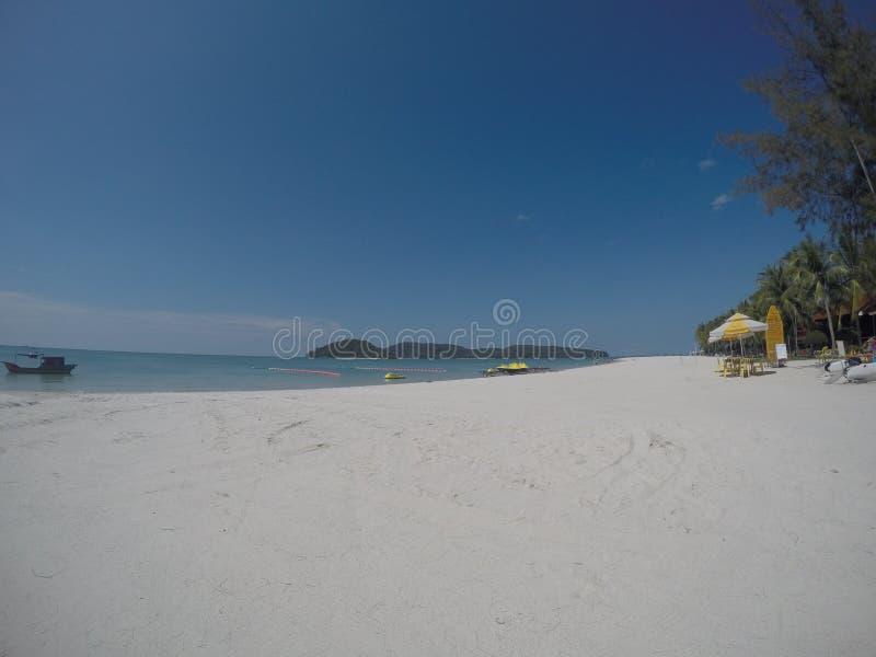 Pantai Cenang海滩凌家卫岛 图库摄影