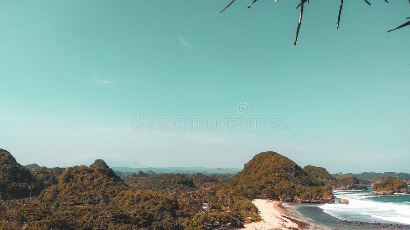 Pantai Goa Cina. royalty free stock photo