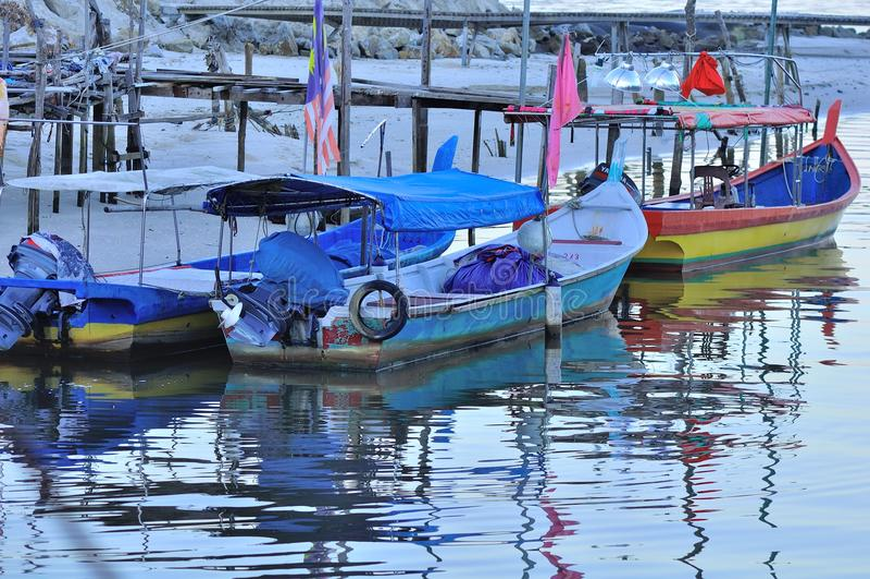 Pantai Kok fishing village in Langkawi. The seaside fishing village in Langkawi Island of Malaysia stock photo