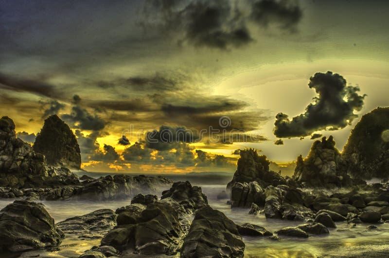 Pantai Payangan Jember стоковая фотография