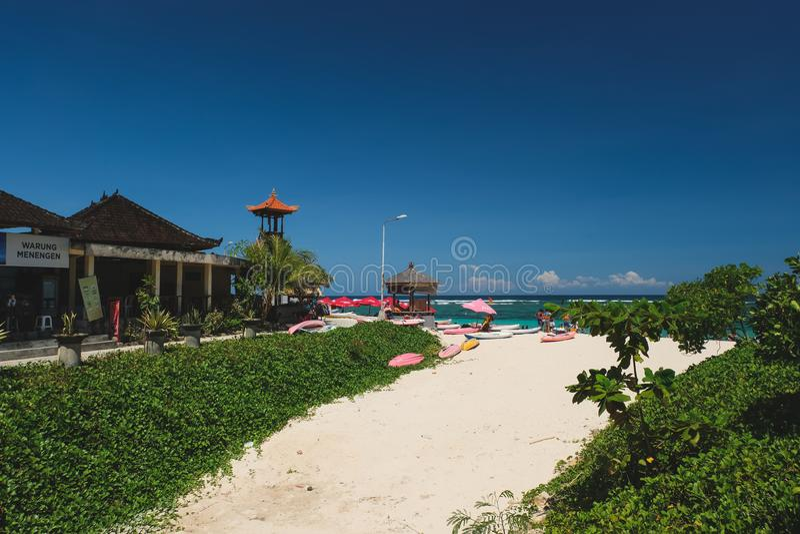 Pantai Pendawa strand i Bali, Indonesien royaltyfria foton