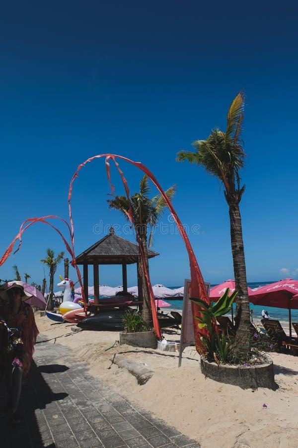 Pantai Pendawa strand i Bali, Indonesien arkivbilder
