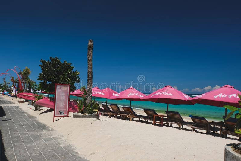 Pantai Pendawa strand i Bali, Indonesien royaltyfri fotografi