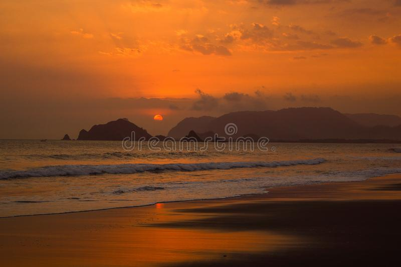 Pantai Rowo Cangak стоковое изображение