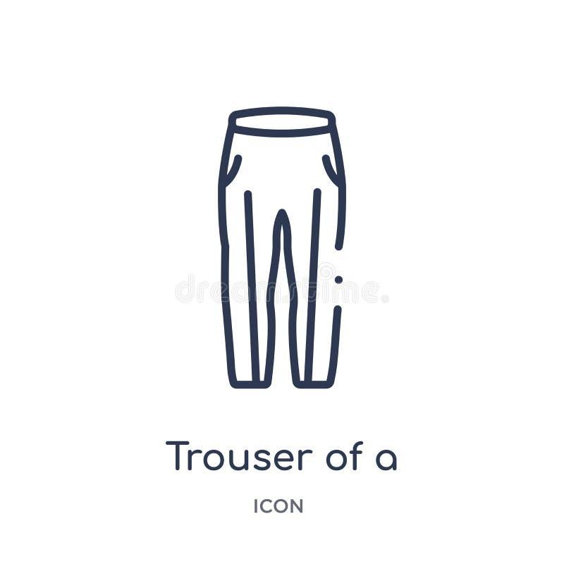 Pantalón linear de un icono del futbolista de la colección del esquema del fútbol americano Línea fina pantalón de un vector del  ilustración del vector