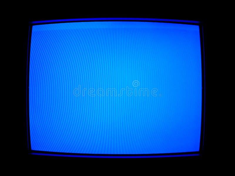 Pantalla Azul De La TV Fotografía de archivo libre de regalías