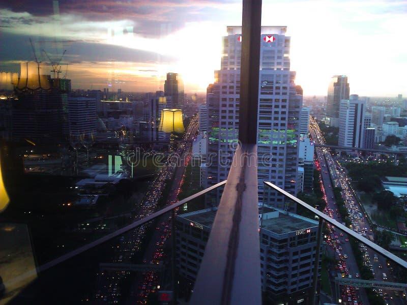 Pantalla Bangkok Tailandia de la ciudad imagenes de archivo