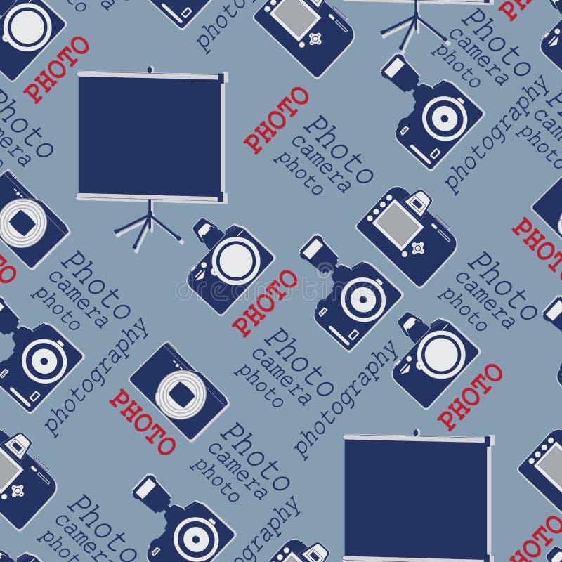 Pantalla, cámaras y palabras stock de ilustración