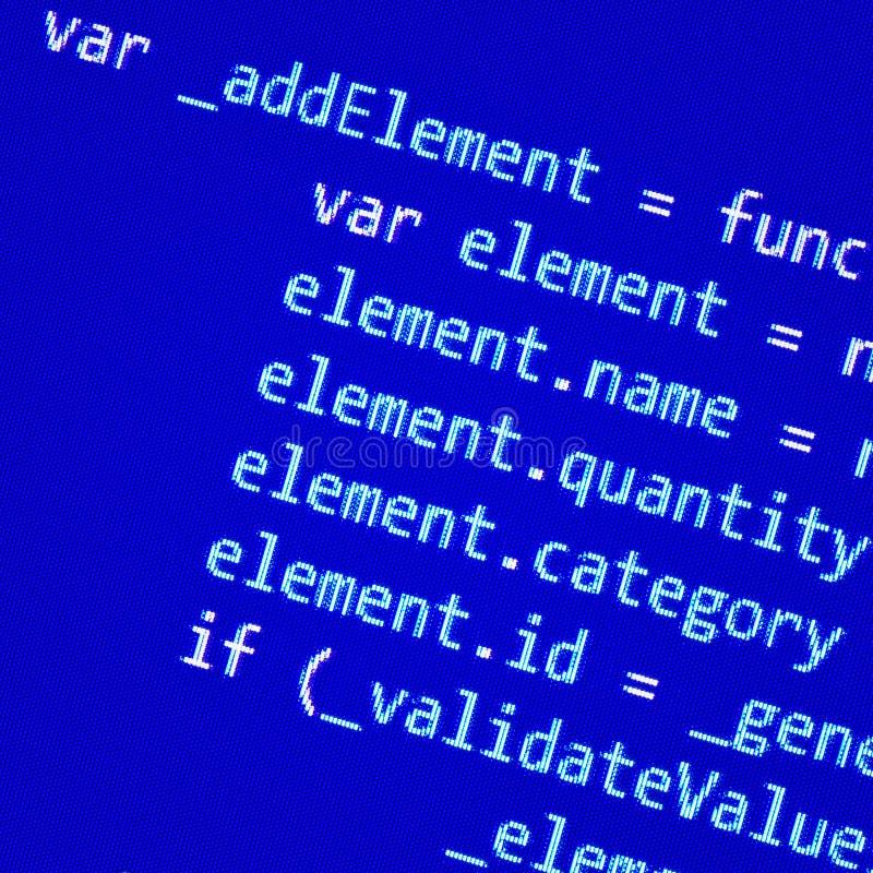 Pantalla con código programado imagen de archivo libre de regalías