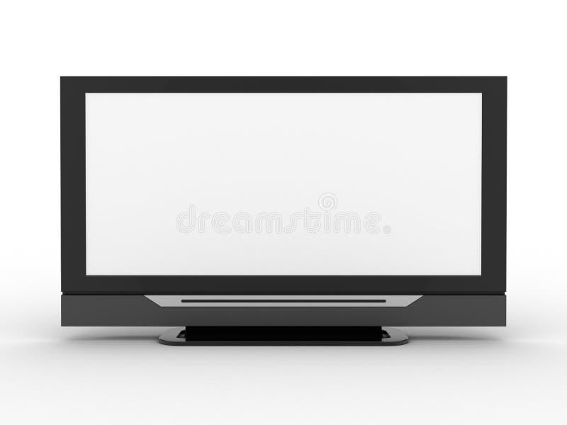 pantalla de 3d TV stock de ilustración