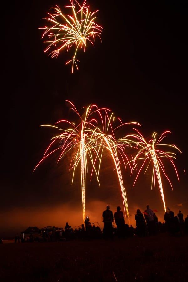 Pantalla de Abingdon Fireworks imagen de archivo